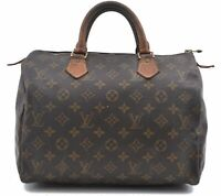 Authentic Louis Vuitton Monogram Speedy 30 Hand Bag M41526 LV B5549
