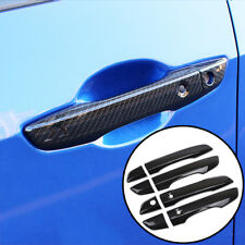 Fit For Honda Civic 2016-17 Chrome Carbon Fiber Style Door Handle Cover Moulding