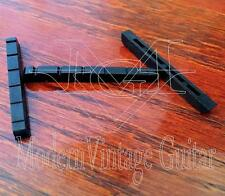 "3 MVG GPNG3BVintage Guitar Nuts BLACK GRAPHITE  43mm 1 11/16"" Width Slotted Nut"