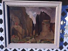 Yannis Mitarakis (1898-1963) METEORA oil on canvas Listed Greek Artist