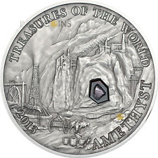 5 $2013 Palau Treasures of the World-Amethyst in Pouch-REDUCED Edition