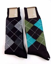 Men's socks argyle pattern Florsheim 2 pairs multicolor