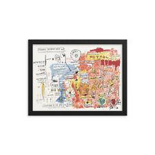 Original Print after Jean Michel Basquiat Framed with COA
