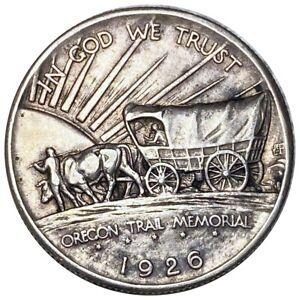 1926 Oregon Trail Memorial Commemorative Silver Half Dollar, Stunning 50c NR!