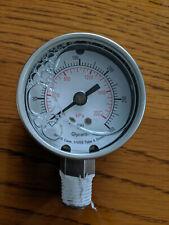 "0 - 300 Psi - 2"" Pressure Pneumatic Air Gauge - Glycerine Filled Gage"
