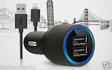 2 Port Twin Dual Car Charger Lightning Cable For Apple iPhone 6 Plus 5 5S C iPad