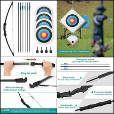 New listing Archery Bow Arrow Target Set Recurve Bow Outdoor Sports Game Hunting Toy Gift ..