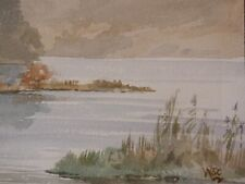 Winston Churchill old watercolour painting on board hand signed