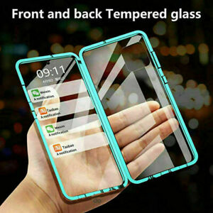 360° Tempered Glass Magnetic Phone Case For Huawei P20 P30 P40 P50 Nova 6 7 8 9