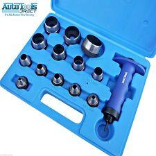 14 piezas agujeros Juego de punzones herramienta del sacador Cuero, plástico,