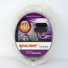 H8 Super Bright White HID Look Xenon Halogen Headlights Globes Bulbs 12V 100W