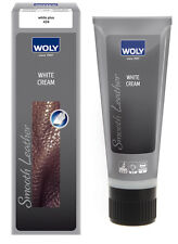 Woly White Leather  Shoe Cream (polish)  75ml tube Renovating Cream For Leather