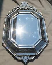 Miroir octogonal à fronton Napoléon III