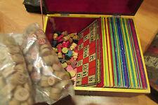 ancien jeu de loto vers 1930 cartons jetons coffret bon etat jouet