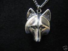 Native Totem Wolf Face Pendant Necklace 2009