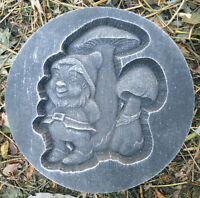 """gnome  plastic garden casting  mould  see more in my store 10"""" x 1.20"""" thick"""