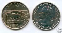 ETATS UNIS @ QUARTER DOLLAR WEST VIRGINIA 2005 D USA
