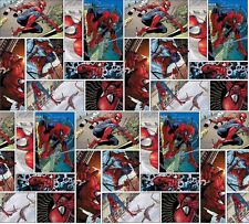 "Springs Creative Marvel Spiderman Comic Scene 100% Cotton 43"" Fabric by the Yard"
