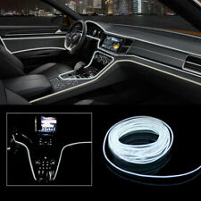 2M White LED Car Interior Decor Atmosphere Wire Strip Light Lamp Accessories New