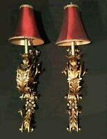 Vintage sconce lamps. French Rococo. Neoclassical.  Salvage. Over 3' tall.