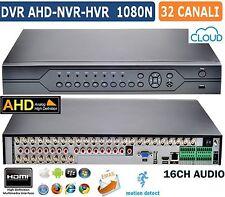 DVR NVR HVR AHD 32 CANALI IBRIDO UTC HDMI VISIONE DA REMOTO CON ALLARMI ONVIF