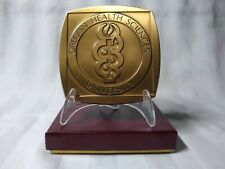 "Oregon Health Sciences University Medical school 3"" Square Bronze Medallion logo"