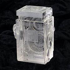 Rolleiflex Camera Crystal Replica Zeiss Lens Book Shelf Paper Weight Hand Photo