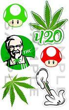 Weed, Kit 07, Car, Sticker, JDM, Drift, Van, Bike, Bong, Laptop, THC,
