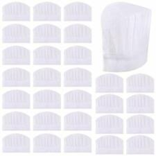 Sntieecr 30 Pack 8 Inch Kids White Paper Chef Hats, Adjustable Chef Toques Kitc