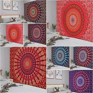 Indian Tapestry Wall Hanging Mandala Hippie Bedspread Throw Gypsy Bohemian Cover