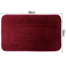 Articles et textiles rouge classiques pour la salle de bain