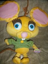 "Toy Network Here Comes Peter Cottontail the Movie Munch Yellow mouse 12"" Plush"