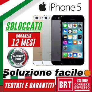 SMARTPHONE APPLE IPHONE 5 5G 16GB/32GB/64GB RIGENERATO RICONDIZIONATO GAR.ITALIA