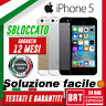 SMARTPHONE APPLE IPHONE 5 5G 16GB/32GB/64GB SBLOCCATO ORIGINALE 12 MESI GARANZIA