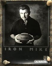 86 WILSON NFL FOOTBALL PROTECTOR IRON MIKE DITKA CHICAGO BEARS SUPER BOWL POSTER