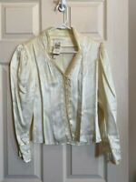 70s Vintage Jessica's Gunnies Gunne Sax Top size 5 Lace Button Front Ruffle