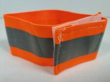 Reflective Running Arm Band Elastic Biking Safety Jogging Orange 10-Pack