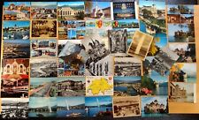 46 Vintage Postcards GENEVA LAC LEMAN LAUSANNE CHILLON Switzerland Airport Ship