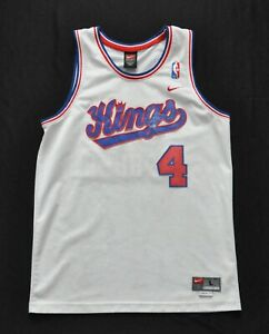 CHRIS WEBBER SACRAMENTO KINGS Nike Swingman Jersey White CURSIVE YOUTH KIDS L