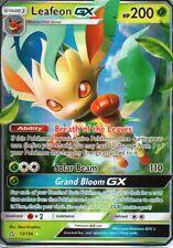 POKEMON SUN /& MOON—ULTRA PRISM Half Art 013//156 Leafeon GX