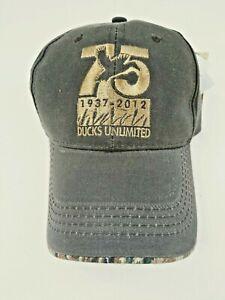 Ducks Unlimited 75th Anniversary Mossy Oak Baseball Cap Water Resident NWT