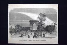 Meteora osservata a Parigi + Mobiliare - Una Credenziera Incisione del 1871