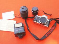 Pentax Super Program Camera with Lenses and Flash CV
