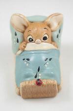 Vintage Pendelfin England Wakey- Turquoise Blanket, Whimsical Bunny Figurine