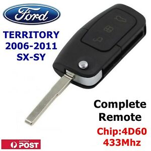 FORD TERRITORY SX SY REMOTE FLIP KEY BLANK COMPLETE KEY READY FOR PROGRAMMING