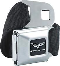 Corvette C6 Logo Seatbelt Style Belt Buckle