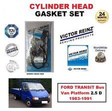 VICTOR REINZ HEAD GASKET SET for FORD TRANSIT Bus Van Platform 2.5 D 1983-1991