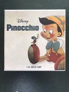 Disney NZ Mint Pinocchio 1oz Silver Coin