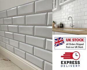 White Tile - 3D - Effect Wall Panels PVC Plastic Decorative Brick Tiles Cladding