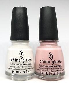 china glaze nail polish Snow 818 + Bridezilla 823 Shimmer French Manicure Duo